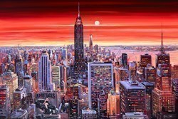 New York Sunset by Henderson Cisz -  sized 60x40 inches. Available from Whitewall Galleries
